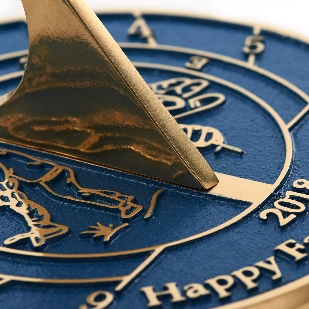 Custom Sundial Gift For Dad Or Grandad.  Handmade In England With Your Message Just For Him.
