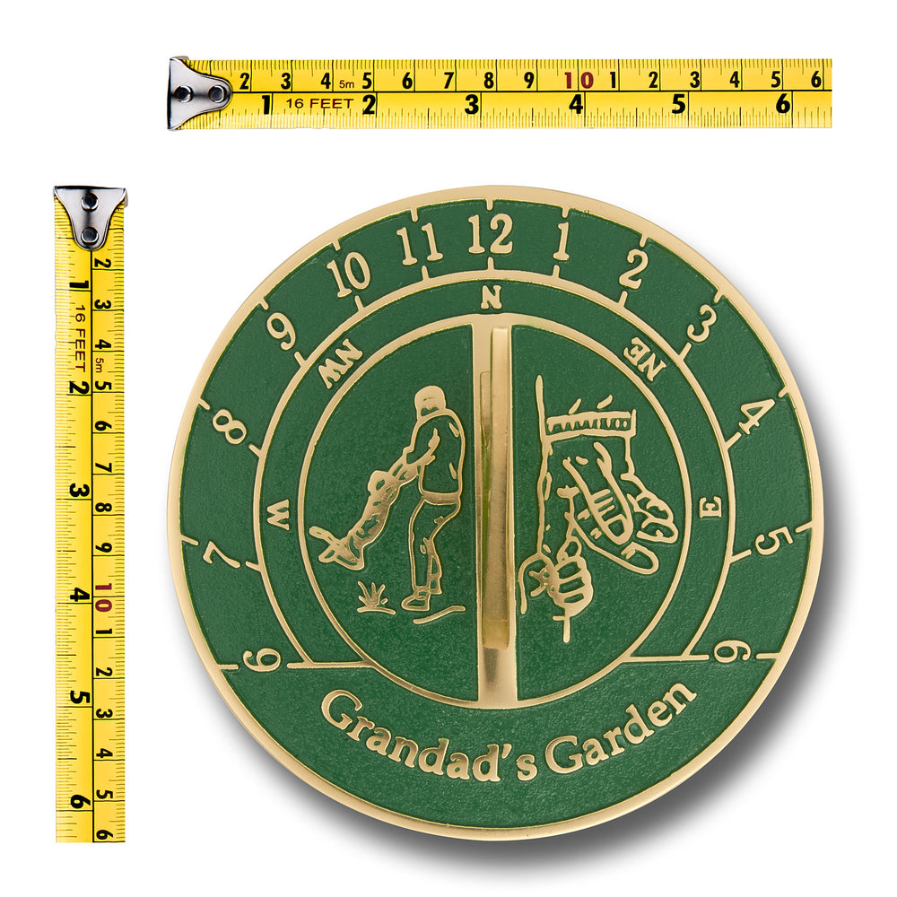 Sundial gift for a gardening grandad heavy duty brass for Gardening gifts for him