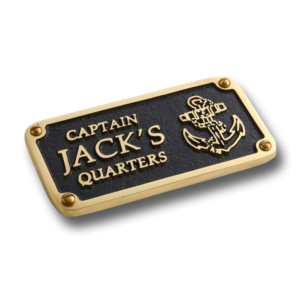 Nautical Themed Gift Plaque. Custom Text Boating Or Sailing Brass Sign Is A Great Birthday Present For Him Or Her