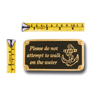 Nautical Themed Gift Plaque. Walk On Water Boating Or Sailing Brass Sign Is A Great Birthday Present For Him Or Her