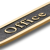 Office Brass Door Sign.  Traditional Style Home Décor Wall Plaque
