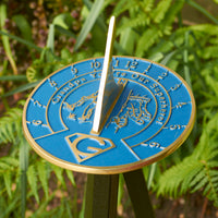 Grandpa You're Our Superhero Sundial Gift. New Idea For His Garden Or Ornament From Grandson Granddaughter Or Grandkids. Lasting Card For Him On Fathers Day Birthday Or Christmas