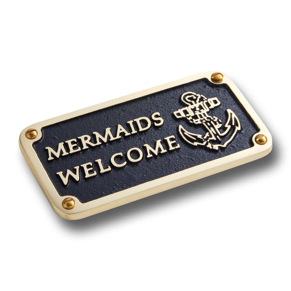 Nautical Bathroom Décor Accessories Brass Plaque. Beach