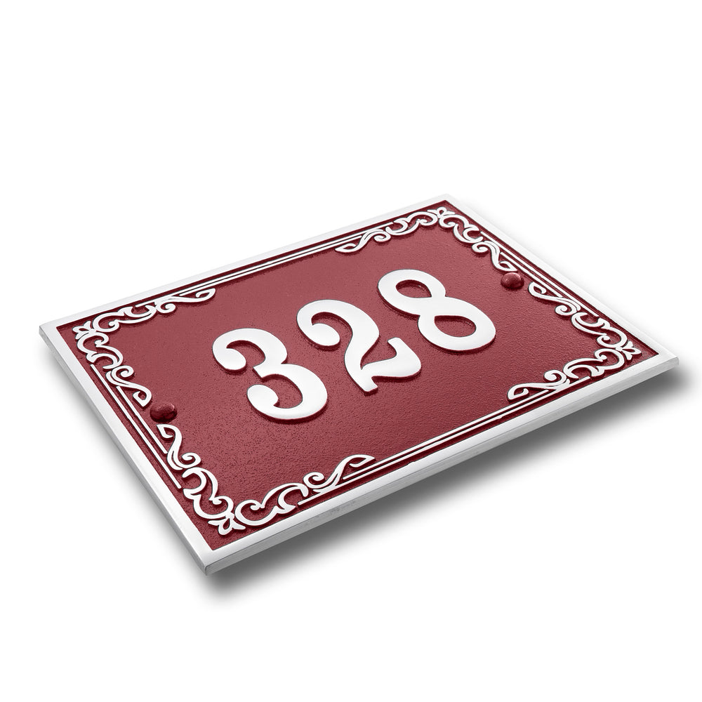 House Number Sign Vintage Style.  Cast Metal Personalised Home Or Mailbox Plaque