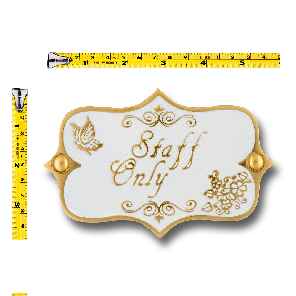 Vintage Shabby Chic Style Staff Only Door Sign.