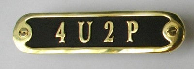 Custom Text Brass Door Sign.  Traditional Style Home Décor Wall Plaque