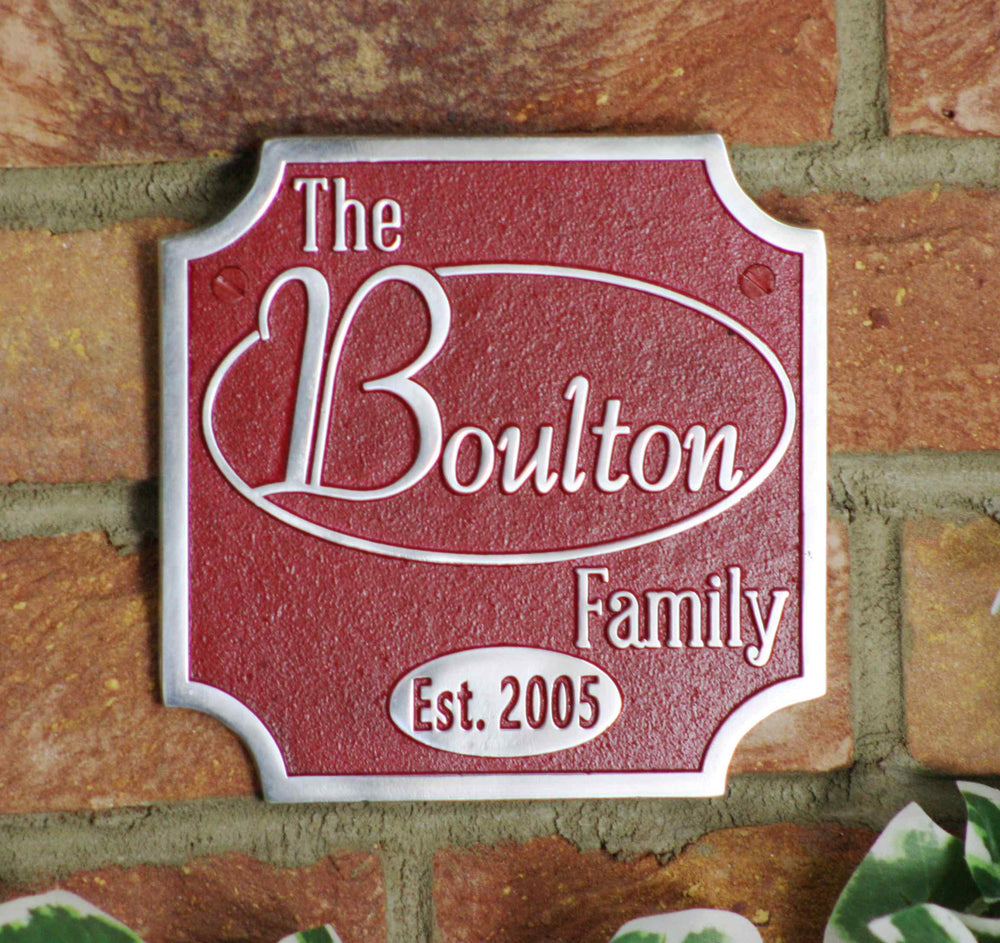 Custom Family Heritage Sign.