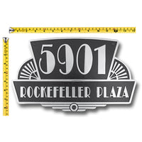 House Number Sign Art Deco Rockefeller Style.  Cast Metal Personalised Home Or Mailbox Plaque