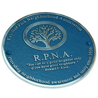 "Fun aluminium blue plaque 300mm (12"").  Fully customisable great fun gift for someone special."