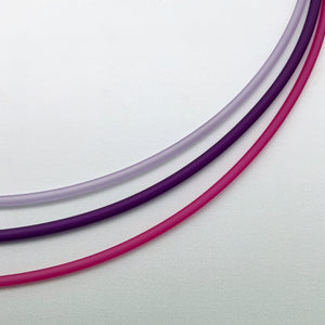 2,5mm PVC necklaces in purples