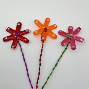 Glass flowers ( set of 3 )