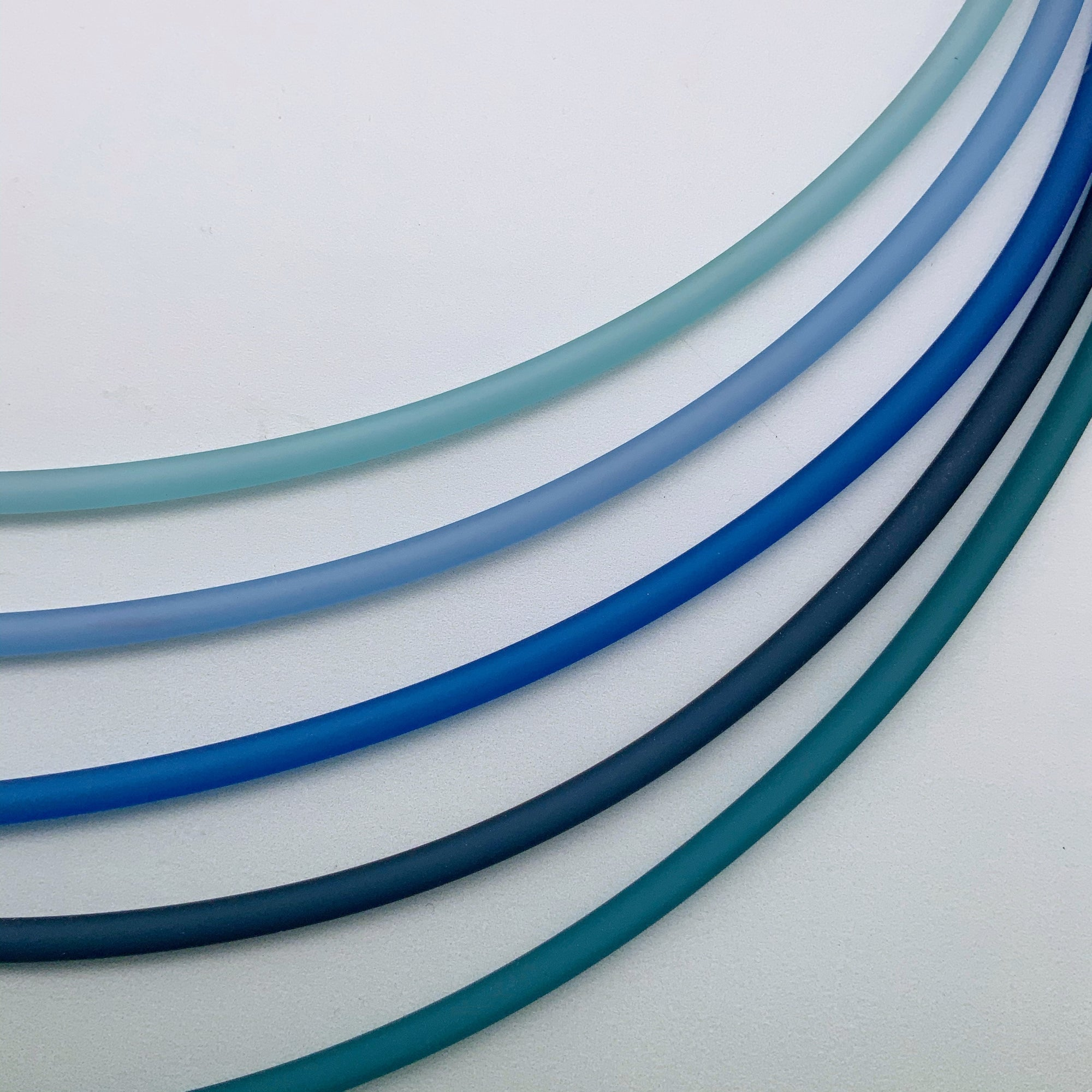 4mm PVC Necklaces in shades of blue