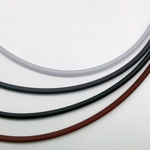 4mm PVC necklaces in grey's to brown