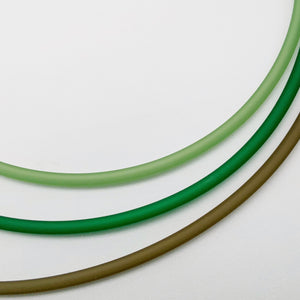 4mm PVC Necklacles in shades of green