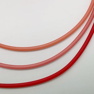 4mm PVC necklaces in oranges