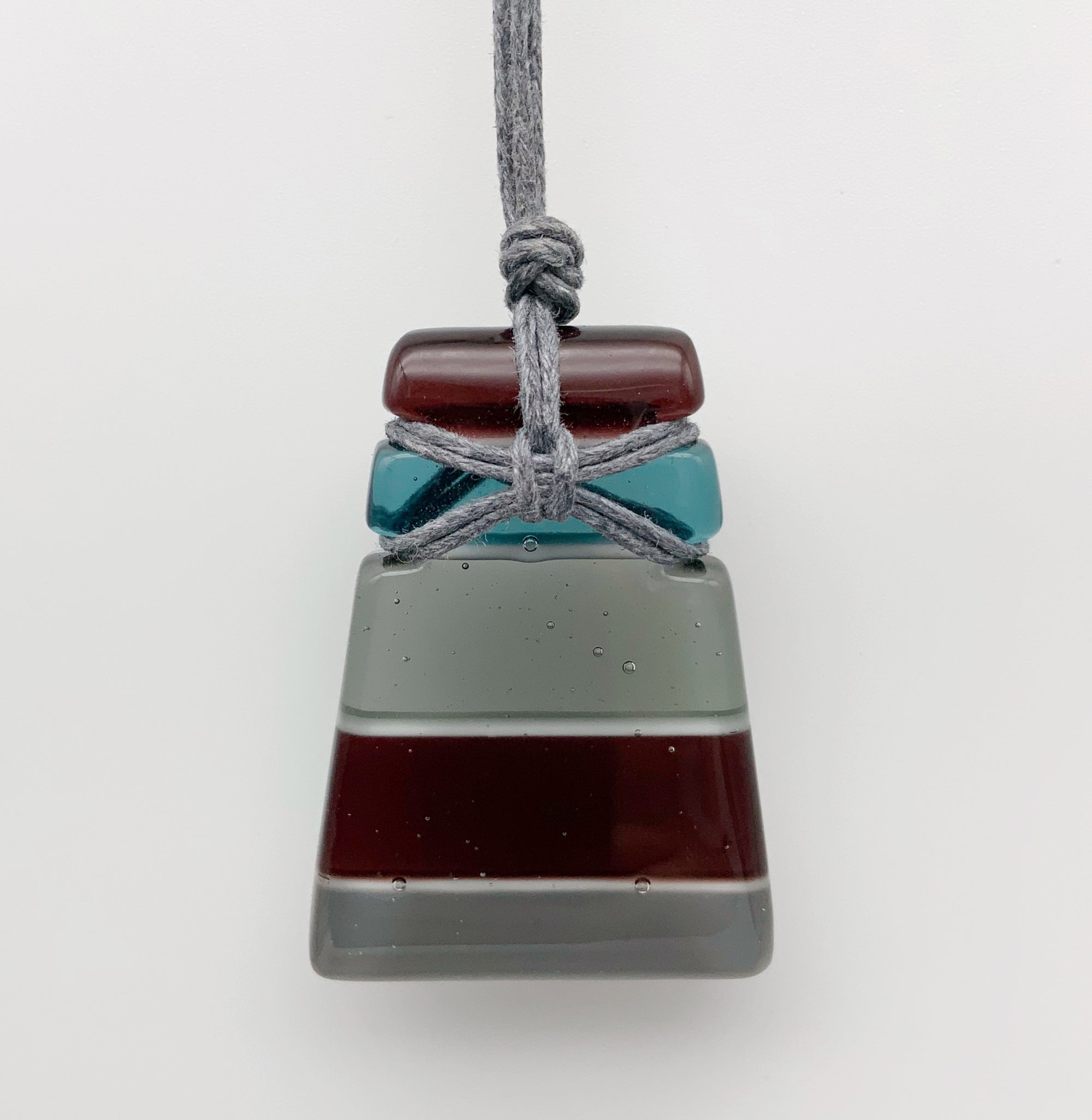 Urban wedge glass necklace