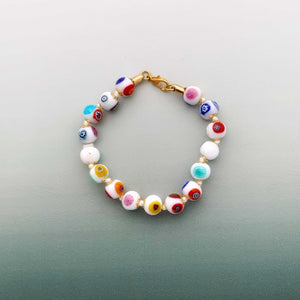 Venetian glass bracelets in various shades