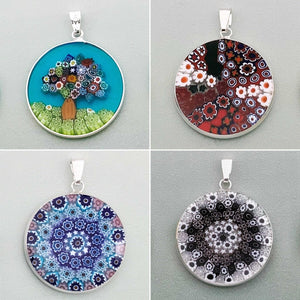 Classic Venice 26mm round glass pendants