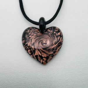 Classic Venice Cuore Passione glass heart necklaces