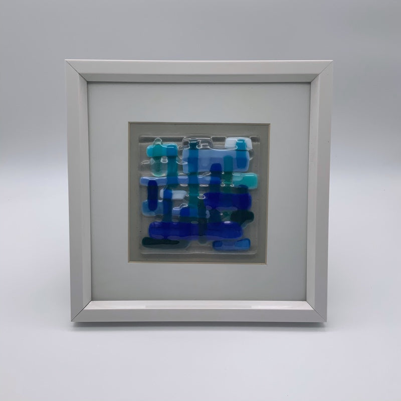 Blue glass frame