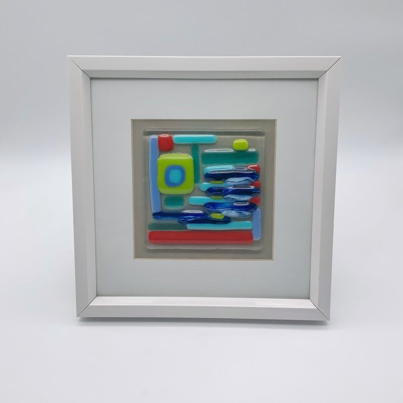 Colourful glass frame