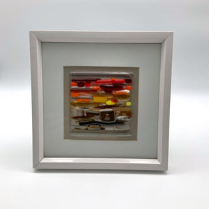 African sunset glass frame