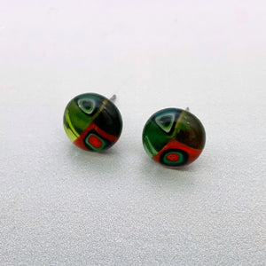 Loerie glass stud earrings