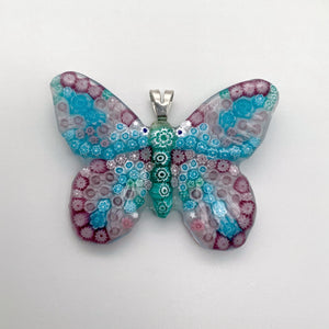 Glass Butterfly Pendants