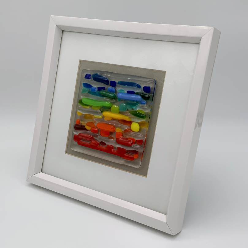 Horizontal rainbow glass frame