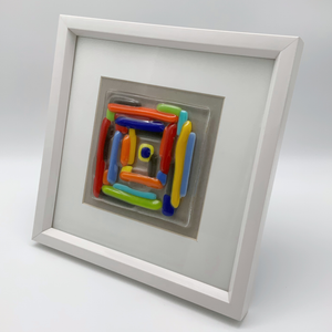 Square rainbow glass frame