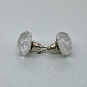 Murano Glass Studs - just white