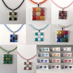 4Sided Mosaic Necklace and Matching Studs