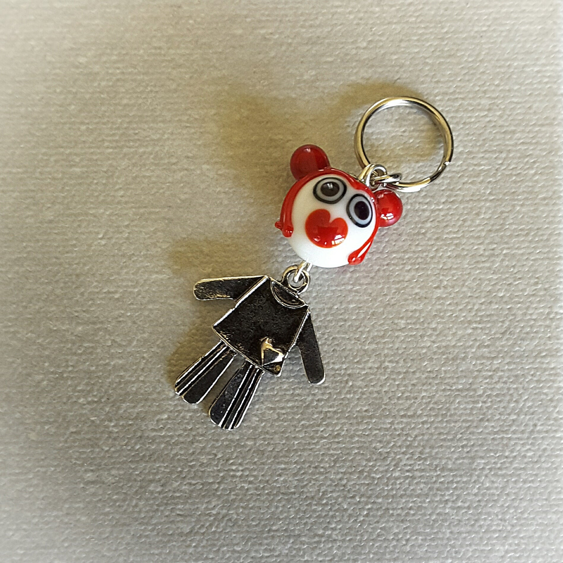 Murano glass Dolla keyring