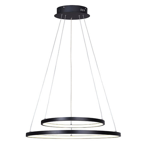 canarm lighting lexie collection 2 ring led chandelier lch128a24