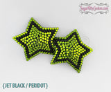 5-Point Striped Star Shaped Rhinestone Pasties - SugarKitty Couture