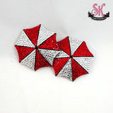 Umbrella Corp Rhinestone Pasties - SugarKitty Couture