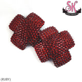Striped X Rhinestone Pasties - SugarKitty Couture - 2