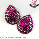 Tear Drop Stripe Rhinestone Pasties - SugarKitty Couture - 2