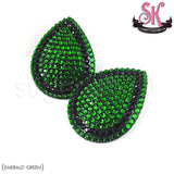 Tear Drop Stripe Rhinestone Pasties - SugarKitty Couture - 3
