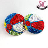 Beachball Rhinestone Pasties - SugarKitty Couture