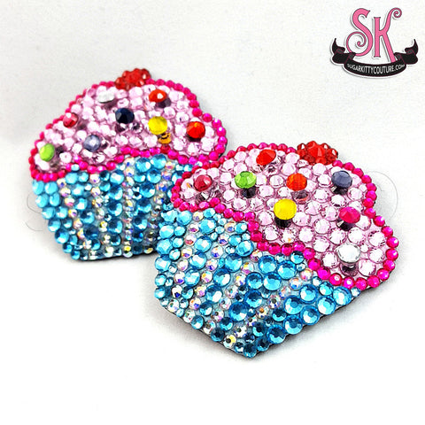 Cupcake Rhinestone Pasties - SugarKitty Couture - 1