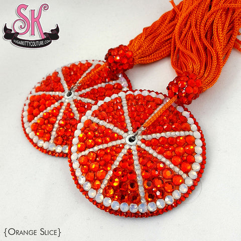 Fruit Citrus Slice Rhinestone Pasties