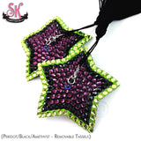 5-Point Striped Star Shaped Rhinestone Pasties