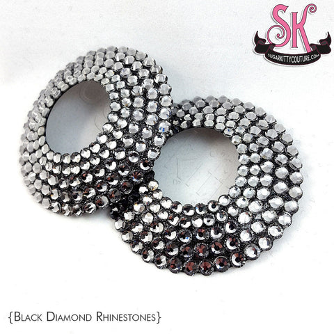 Round Peek-A-Boo Open Center Rhinestone Pasties
