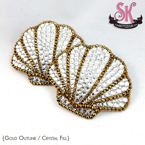 Sea Shell Rhinestone Pasties