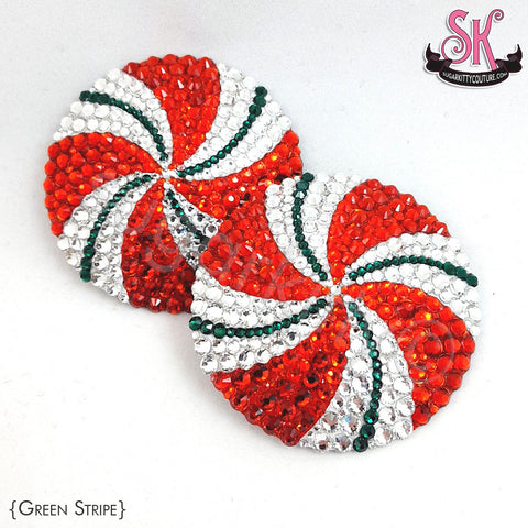 Peppermint Candy Rhinestone Pasties