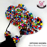 Heart-Shaped Calliope Riot Rainbow Rhinestone Pasties