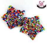 5-Point Star Calliope Riot Rainbow Rhinestone Pasties - SugarKitty Couture