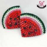 Watermelon Slice Rhinestone Pasties