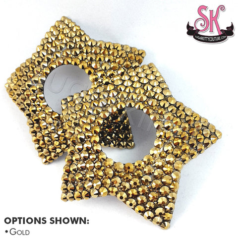 Star-Shaped Peek-A-Boo Rhinestone Pasties
